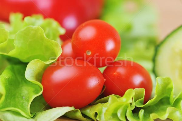 Koktélparadicsom érett lédús saláta étel természet Stock fotó © taden
