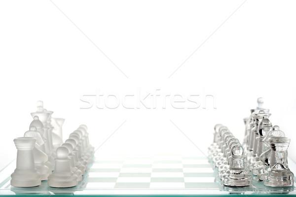 Satranç tahtası hazır oyun spor satranç grup Stok fotoğraf © taden