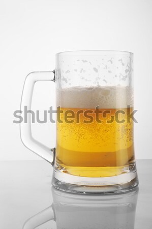 Bière mug verres bar or Photo stock © taden