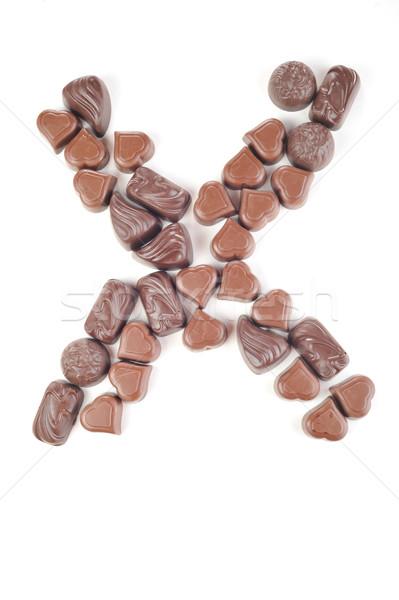 Levél étel terv szín fehér desszert Stock fotó © taden