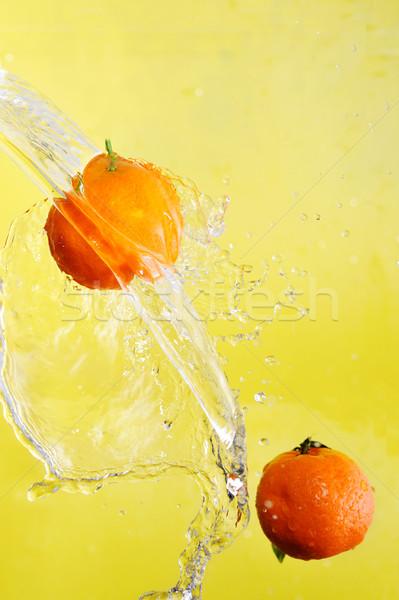 Dos agua salpicaduras amarillo verde Foto stock © taden