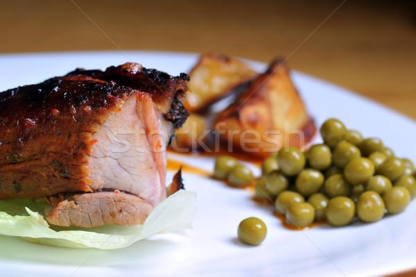 片 肉類 綠色 豌豆 商業照片 © taden
