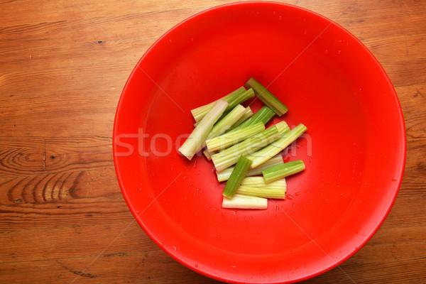 Frescos apio rojo tazón primer plano vegetales Foto stock © taden