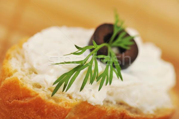 Sandviç tost ekmek lezzetli yeşil peynir Stok fotoğraf © taden