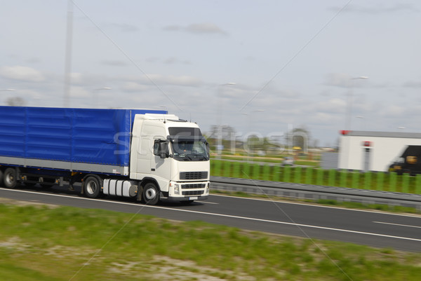 トラック 移動 高速 ビジネス 道路 速度 ストックフォト © taden