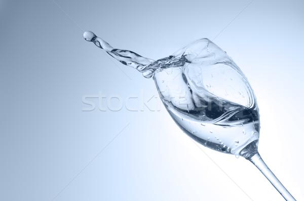 Su cam dalga içecekler Stok fotoğraf © taden