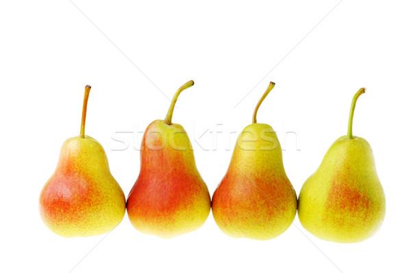 Stockfoto: Smakelijk · peren · rijp · geïsoleerd · witte · natuur