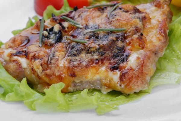 Alla griglia bistecca formaggio erbe rosmarino alimentare Foto d'archivio © taden