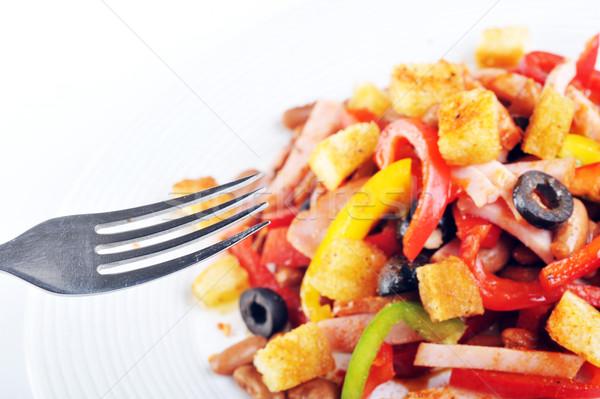 Ensalada placa especias mexicano carne alimentos Foto stock © taden