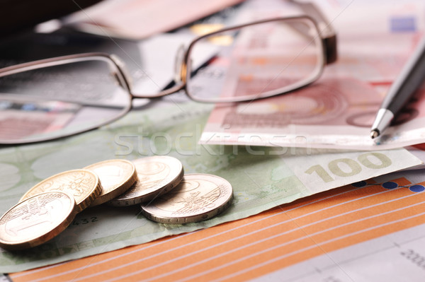 glasses and money Stock photo © taden