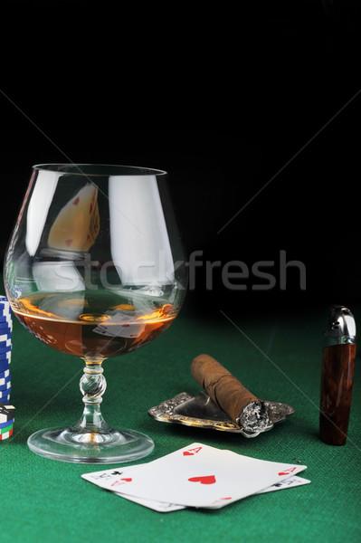 Szivar ital zöld közelkép üveg csoport Stock fotó © taden