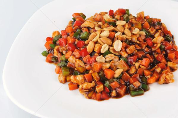 овощей мяса арахис пластина китайский Сток-фото © taden
