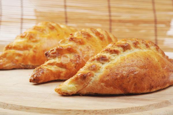 свежие пироги три мяса хлеб Сток-фото © taden