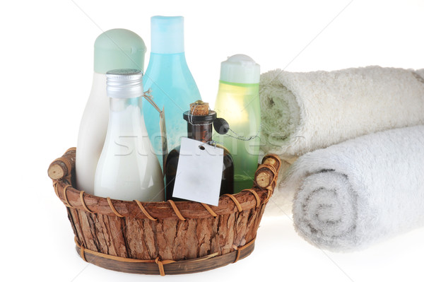 different cosmetic  for  body  in basket  Stock photo © taden