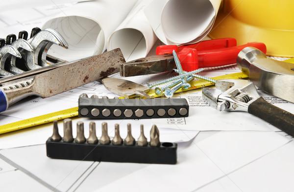инструменты проект таблице бизнеса домой Сток-фото © taden