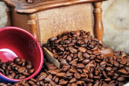 Kávé daráló csésze klasszikus utasítás kávé Stock fotó © taden
