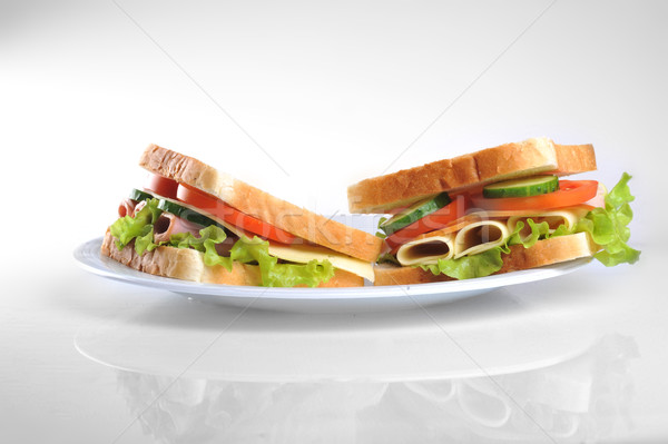 Stock photo: sandwich on plate