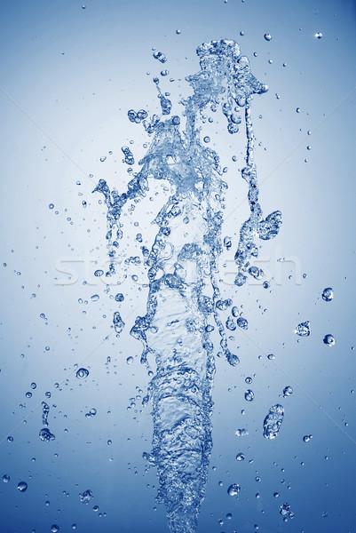 Water bubbels vallen licht Stockfoto © taden