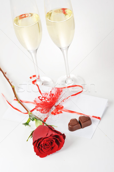 champagne  and chocolate  Stock photo © taden
