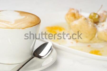 Torta sciroppo caffè miele caldo Foto d'archivio © taden