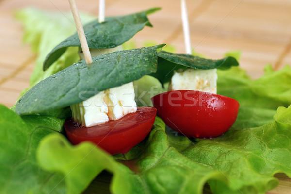 Pequeño sándwich sabroso hortalizas queso naturaleza Foto stock © taden