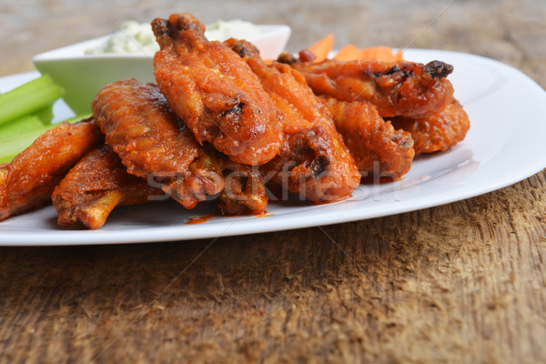 chicken wings Stock photo © taden