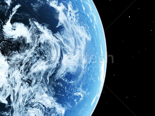 планете Земля синий пространстве мира карта природы Сток-фото © taden