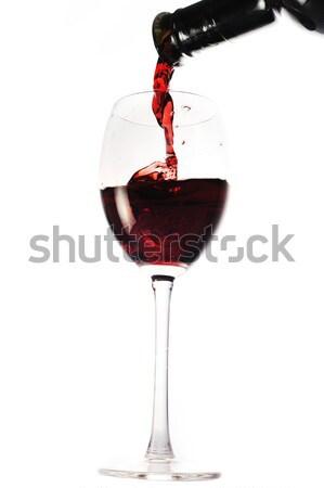 Foto d'archivio: Vino · vetro · vino · rosso · acqua · bar