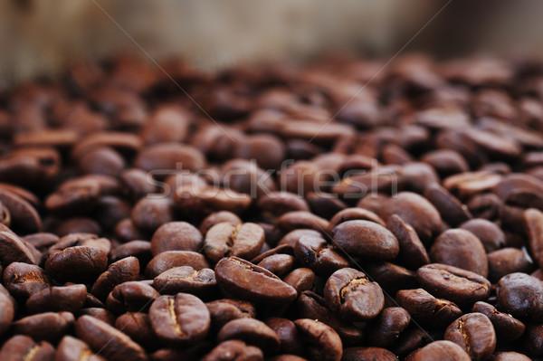 Kávé közelkép kávé háttér étterem csoport Stock fotó © taden
