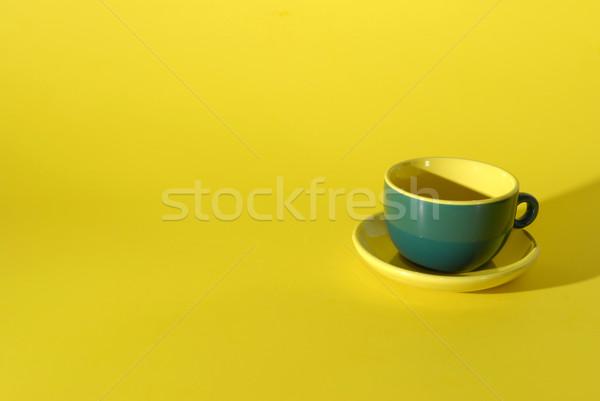 Bab csésze citromsárga étel kávé asztal Stock fotó © taden