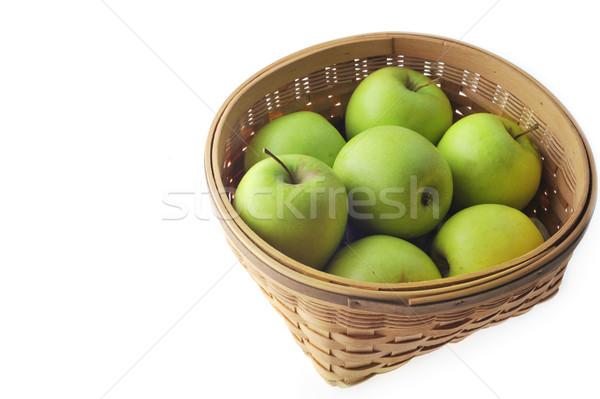 green apples in basket Stock photo © taden