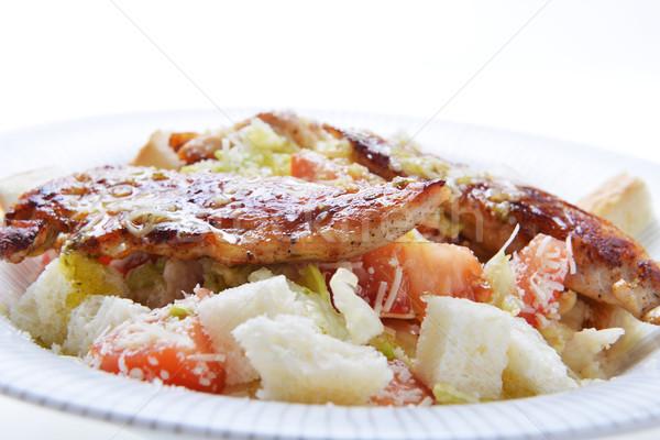 Салат гренок для супа мяса жареный пластина Сток-фото © taden