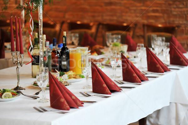 Tabel voedsel drinken plaats klaar Stockfoto © taden
