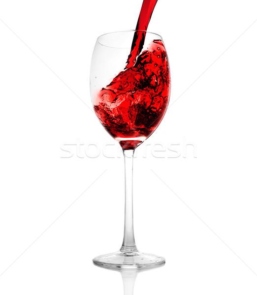 Foto d'archivio: Vetro · vino · rosso
