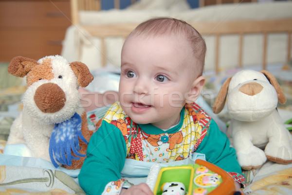 красивая девушка портрет игрушками ребенка глаза Сток-фото © taden