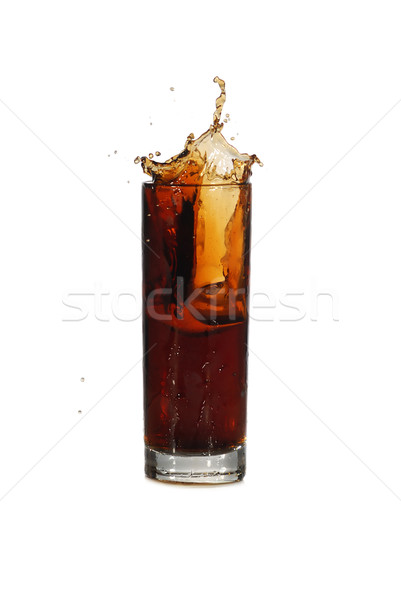 Bebida fria gelo gotas cola fundo Foto stock © taden