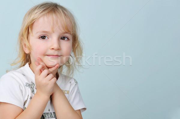 девочку портрет рук лице девочек Сток-фото © taden