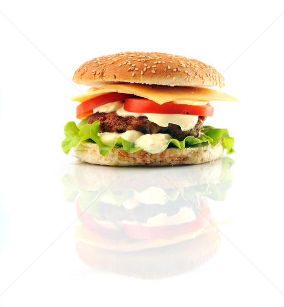 Hamburguesa hortalizas mesa grupo trigo Foto stock © taden