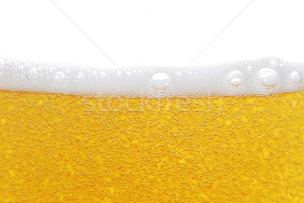 Cerveza burbujas alimentos hielo beber botella Foto stock © taden