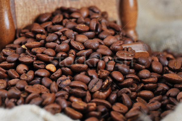 Granos de café café naturaleza beber Foto stock © taden