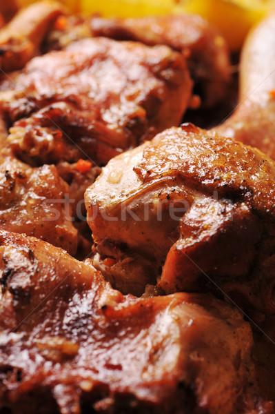 ローストチキン ピース おいしい 家族 鶏 ストックフォト © taden