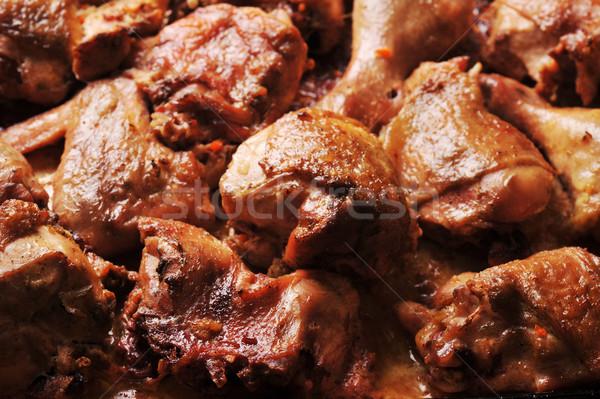 Pieczony kurczak sztuk smaczny rodziny kurczaka Zdjęcia stock © taden