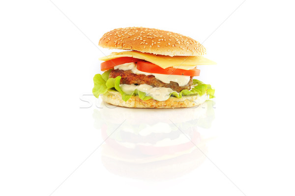 Stock photo: hamburger with cutlet