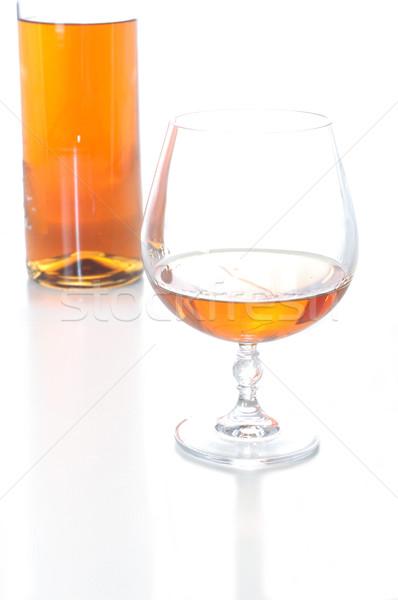 Vidrio brandy aislado blanco gafas bar Foto stock © taden