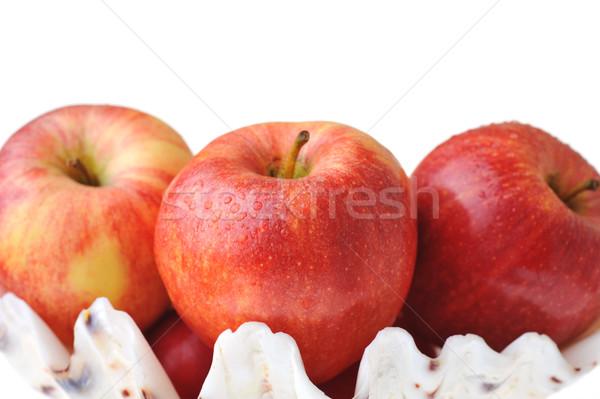 Piros almák érett ízletes izolált fehér Stock fotó © taden