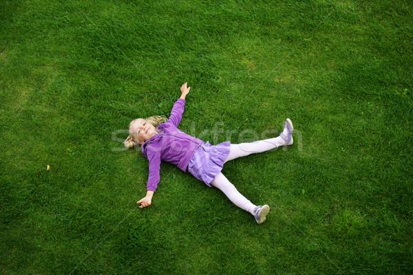 девушки трава Top мнение девочку тело Сток-фото © taden