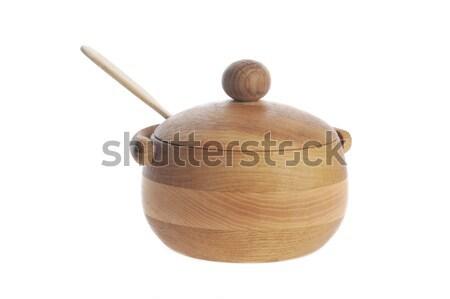 wooden sugar bowl  Stock photo © taden