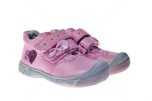ストックフォト: ペア · 子 · 靴 · 白 · 赤ちゃん · スポーツ