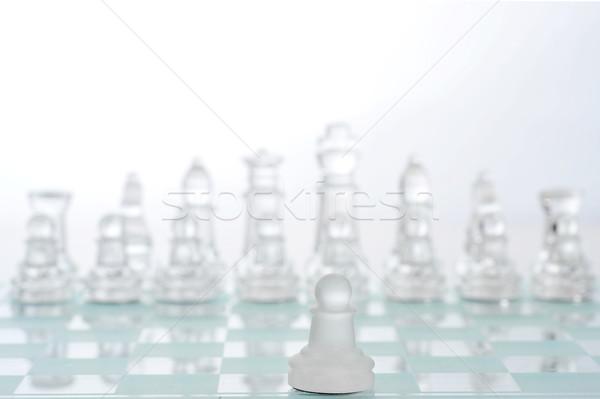 Juego ajedrez primero deporte grupo diversión Foto stock © taden