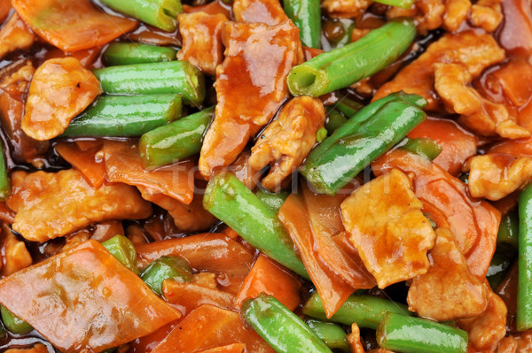 chicken with vegetables Stock photo © taden